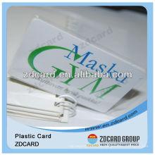 Tarjeta de visita plástica del PVC / tarjeta de presentación / tarjeta de visita
