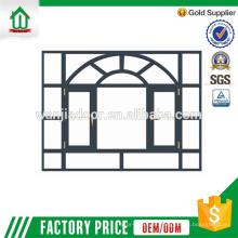 Guangzhou aluminio fijo / ventana de aluminio con vidrio esmerilado