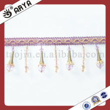Cheap Purple Beaded Fringe For Curtain Decorative Fringe Suppliers
