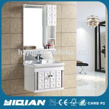 Puerta de diseño especial de PVC impermeable pequeño gabinete de pared de baño moderno