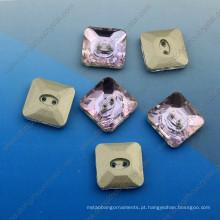 Botões de cristal de variedade costurar em botões de vestuário para acessórios de vestuário
