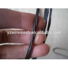 Fil à torsade galvanisé / fil torré recouvert noir pour la reliure