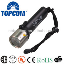 Super bright cree led diving flashlight