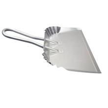 """17"""" Industrial Aluminum Metal Dustpan with rolled handle"""