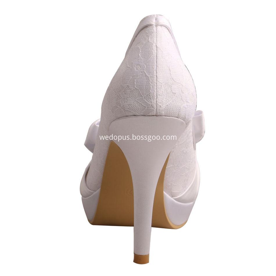 Platform Lace Bridal Shoes
