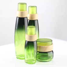 OEM & ODM glass Pump sleeve plating lotion bottle cream bottle