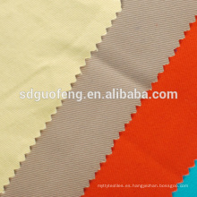tejido de color blanco blanqueador de poliéster mezcla de algodón