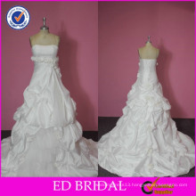 2015 Pre-collection Real Photos Ruffled Hand Made Flowers Alibaba Wedding Dresses
