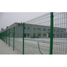 Clôture soudée bilatérale de fil de PVC avec la qualité