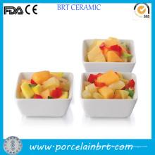 3 Inch Square Porzellan Weiß Tasting Bowl