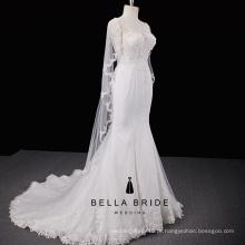 Elegante vestido de noiva de sereia Vestido de noiva de vestido de noiva de casamento de alta qualidade China para venda