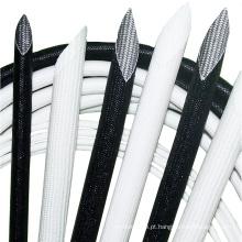 O silicone trançado branco cobriu a luva da tubulação da isolação da fibra de vidro