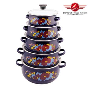 5 PCS Enamel Casserole /Enamel Pot From Longfei (675EDGB)