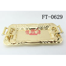 Stainless Steel Gold Plating Craft Tray (FT-0629)