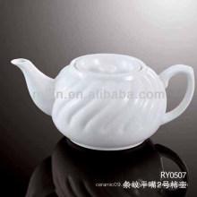 Saudável, durável, branca, porcelana, forno, seguro, café, chaleira, tampa