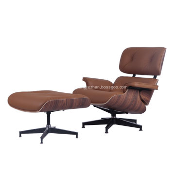 Fauteuils Eames Mid Century Classic en cuir