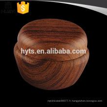 20ml de beaux cosmétiques pot de crème vide de pp avec le nouveau type de grain en bois