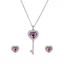 set-46 xuping элегантный сердечный набор роскошный Swarovski Elements элегантный сердечный комплект украшений