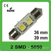 36mm 39mm 12V 5050 SMD festoon levou lâmpada