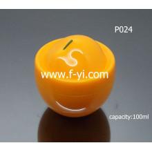 Frasco bonito bonito da fruta Cosmetic claro frascos plásticos