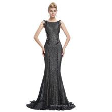 Starzz 2016 sin mangas negro brillantes lentejuelas Backless vestido de fiesta formal vestido de noche ST000072-1
