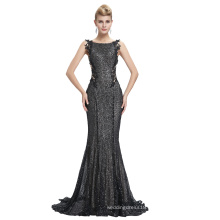 Starzz 2016 Sleeveless Black Shining Sequins Backless Ball Gown Formal Evening Dress ST000072-1