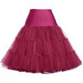 Grace Karin Mujer A-line corto vestido retro Vintage Crinolina Rockabilly Underskirt Enagua CL008922-15