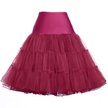 Grace Karin Women A-line Robe courte rétro Vintage Crinoline Rockabilly Underskirt Petticoat CL008922-15