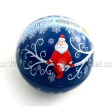 Round tin gift  Christmas gift ball tin