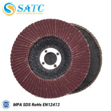 Disco abrasivo SATC flap para acero inoxidable
