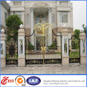 Elegant Wrought Iron Residential Security Gate
