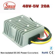 Conversor de 48VDC a 5VDC 20A 100W DC-DC com IP68 impermeável