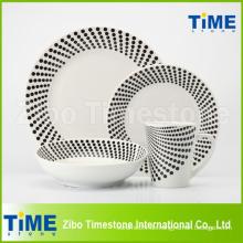 Kundenspezifisches einfaches Porzellan-Geschirr