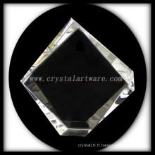 armature de photo de qualité blanc cristal Iceberg pour gravure laser