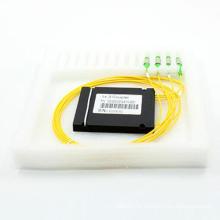Acoplador PLC Fiber Optical 1 * 3 com cassete ABS