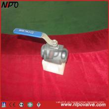 Válvula de bola de dos piezas forjadas de acero soldadas a tope