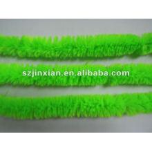 alambres de chenilla con cable cordón peludo