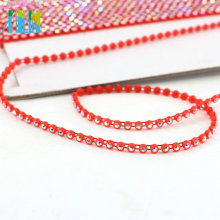 GBA019 bandas para vestidos al por mayor borde de diamantes de imitación de cadena