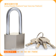 High Security Nickle Plated Long Shackle Diamond Type Padlock