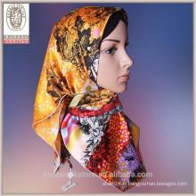 Echarpe 100 en soie 2014 nouvelle conception abaya mode hijab