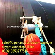 Cinta de goma del abrigo del tubo del betún del grueso de 0.75mm con el forro del PVC