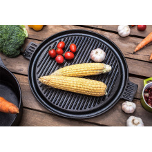 Metal preseasoned cookware- grill pan