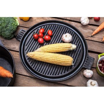 Metal preseasoned cookware- grill pan