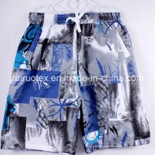 Peau de pêche balayée par microfibre de polyester de 100% pour des shorts de plage