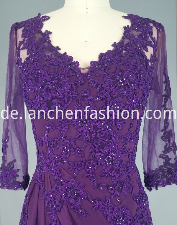 dress purple bead