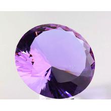 Greffon de diamant de verre cristal violet pour l'ornement