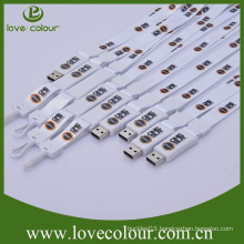 Factory wholesale portable cool usb flash drive lanyards/oem usb lanyard