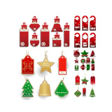 New arrival 300GMS paper cardboard decorated OEM paper hangtag for christmas holiday