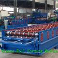 XN-750 Hangzhou vente chaude manuel métal acier toit / mur couleur feuille de carreaux d'acier rouleau formant la fabrication de la machine