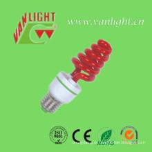 Colorida espiral CFL, lámparas de ahorro de la energía de la iluminación de Color